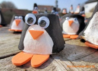 Pinguin-Tischkarte-selber-basteln