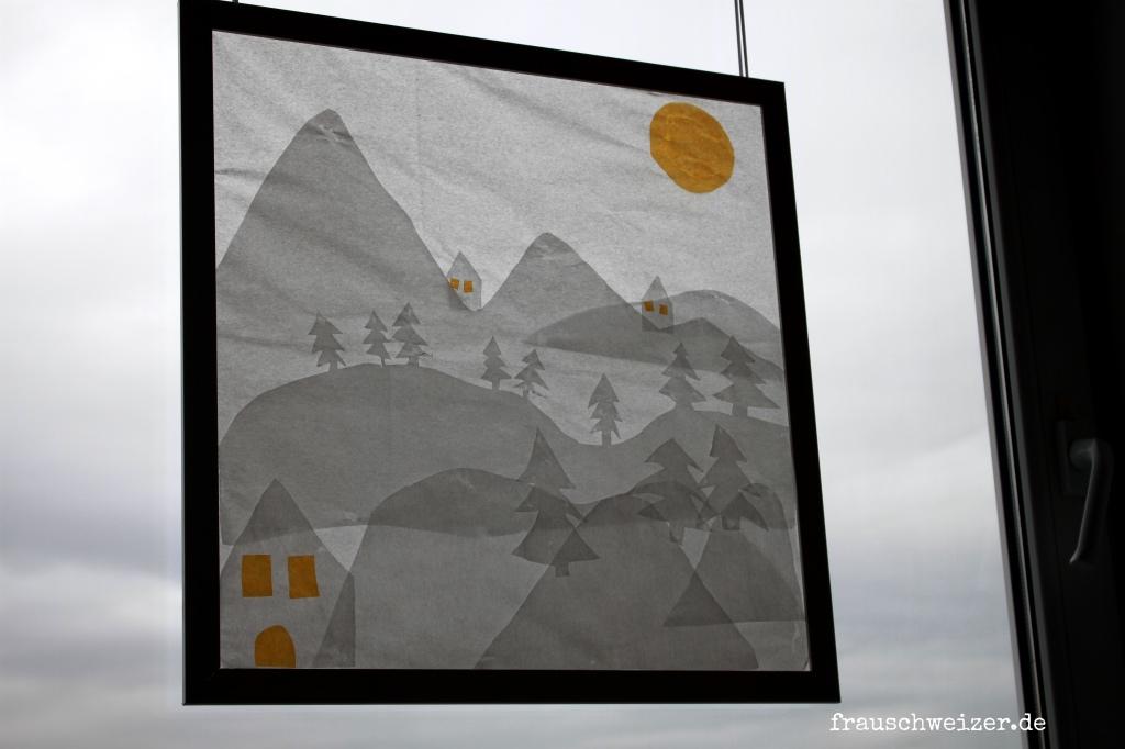 Fensterbild winter anleitung im Nebel - Frau Schweizer