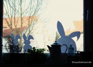 Fensterbild-Hasen-Ostern