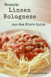 Rezept: Linsen Bolognese im MicroQuick gekocht 1