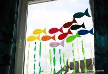 DIY Anleitung Fensterbild Fische selberbasteln