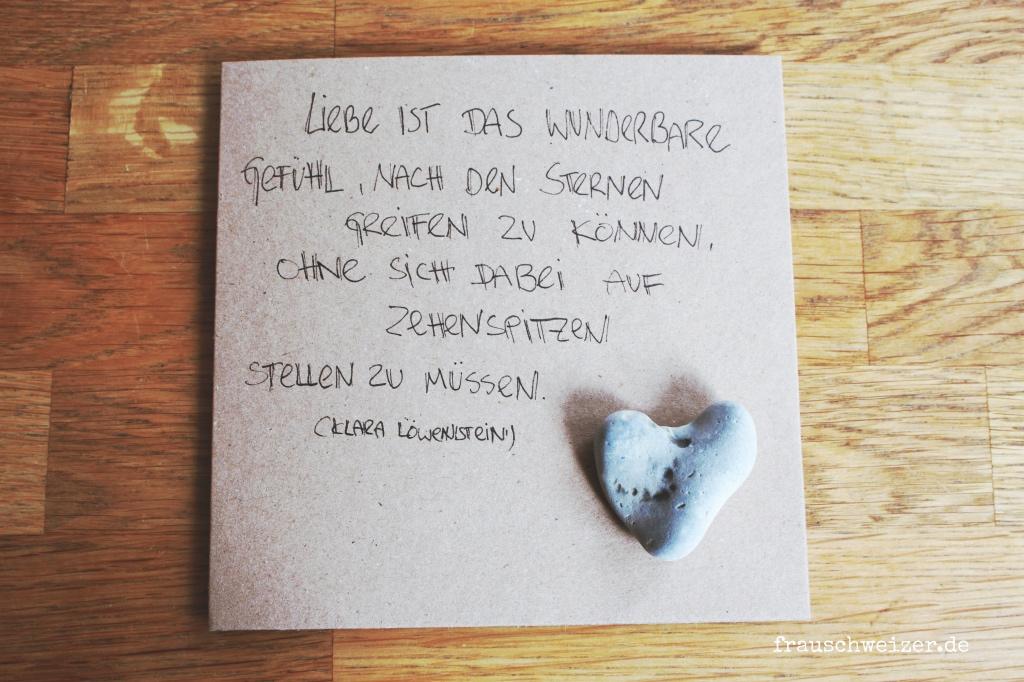 Diy steine karte mit urlaub spruch frau schweizer - Spruch urlaub ...