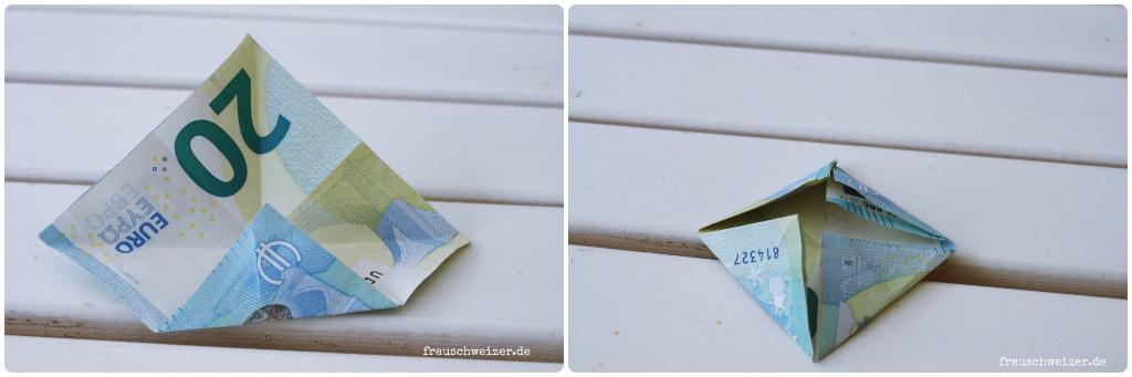Geldscheine Falten Dampfer Schritt 3 Und 4 Frau Schweizer