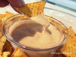 kochen mit Tupper rezept kaesesosse fuer nachos
