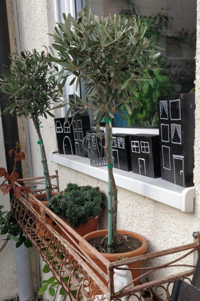 Dekoration für Herbst und Winter: Holzhäuser 1