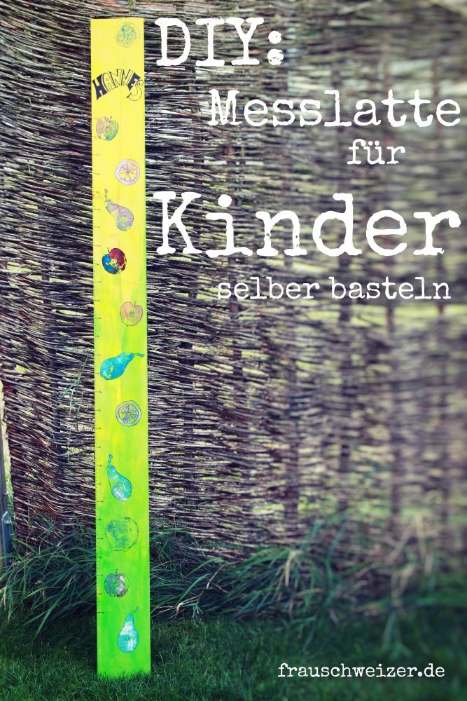 Messlatte fuer Kinder selberbasteln DIY Anleitung Frau