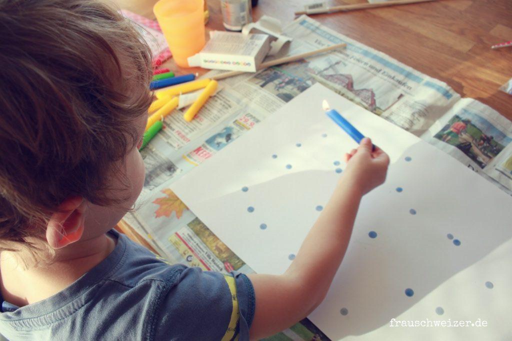 einfache schöne Laterne mit Kindern selber basteln
