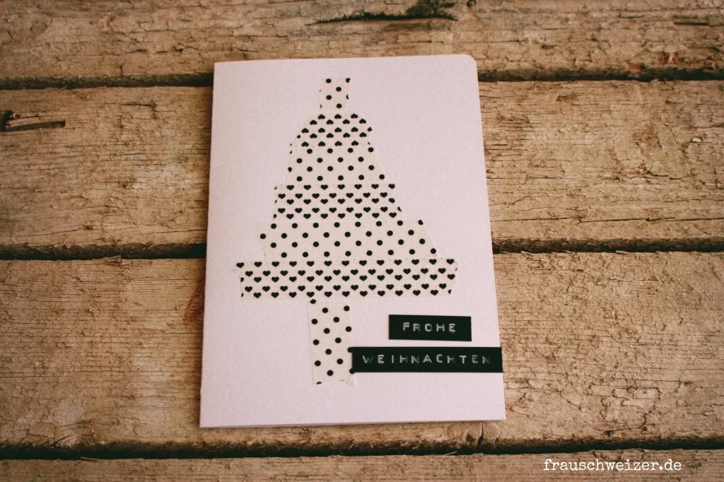 Weihnachtskarte Tannenbaum Frau Schweizer