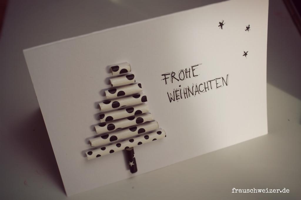 Strohhalmbaum Weihnachten Frau Schweizer