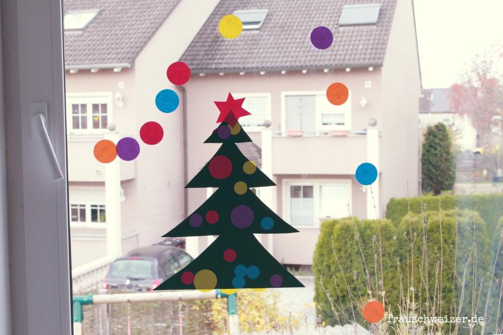 Basteln Mit Kleinen Kindern: Fensterbild Tannenbaum