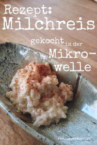 Rezept Milchreis in der Mikrowelle kochen