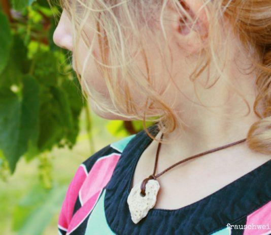 Halskette aus dem Meer selberbasteln