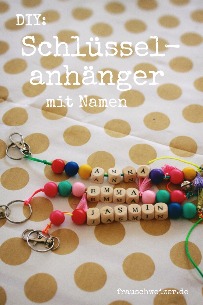 Hervorragend DIY für Schulkinder: Schlüsselanhänger mit Namen basteln HF91