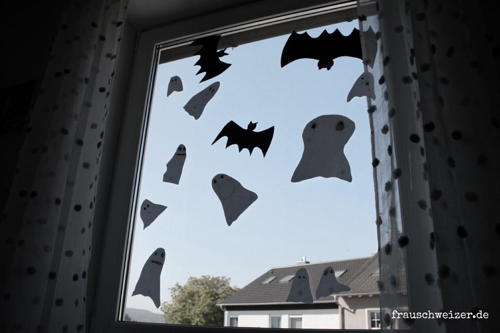 DIY Anleitung: Ein Gespenster - Fenster basteln