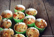 Herzhafte Gemüse Muffins low Carb