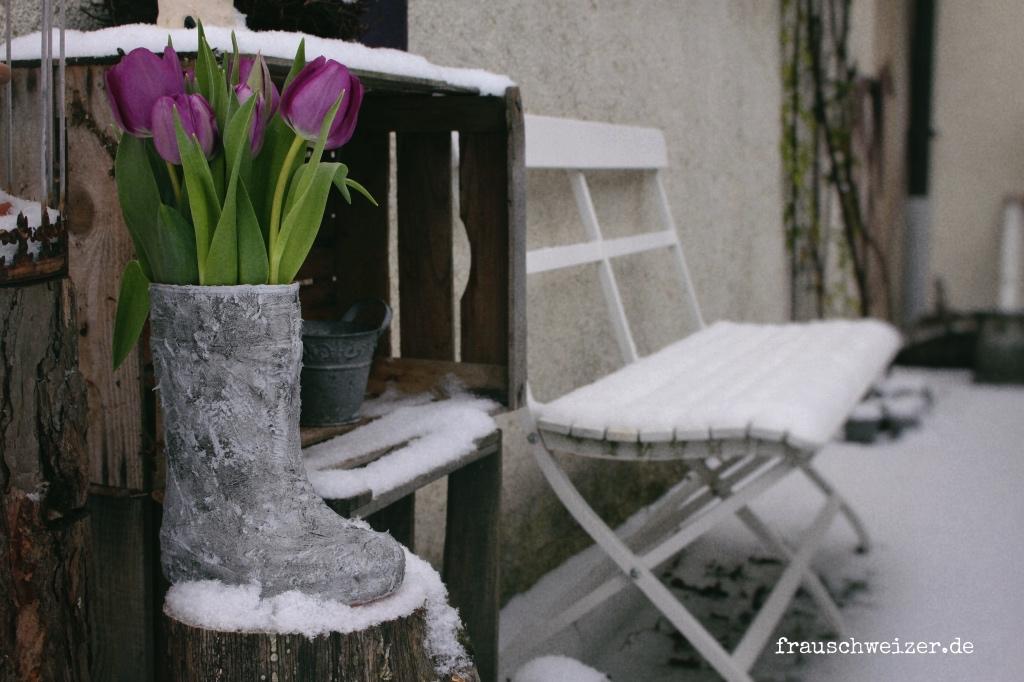 Beton Mit GonisEine Gummistiefel Machen Vase Upcycling Von wXNk8On0P