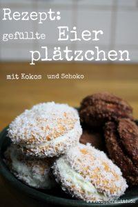 gefuellte Eierplätzchen mit Schoko und Kokos