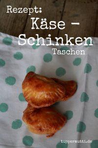Fingerfood: Kaese Schinken Tasche