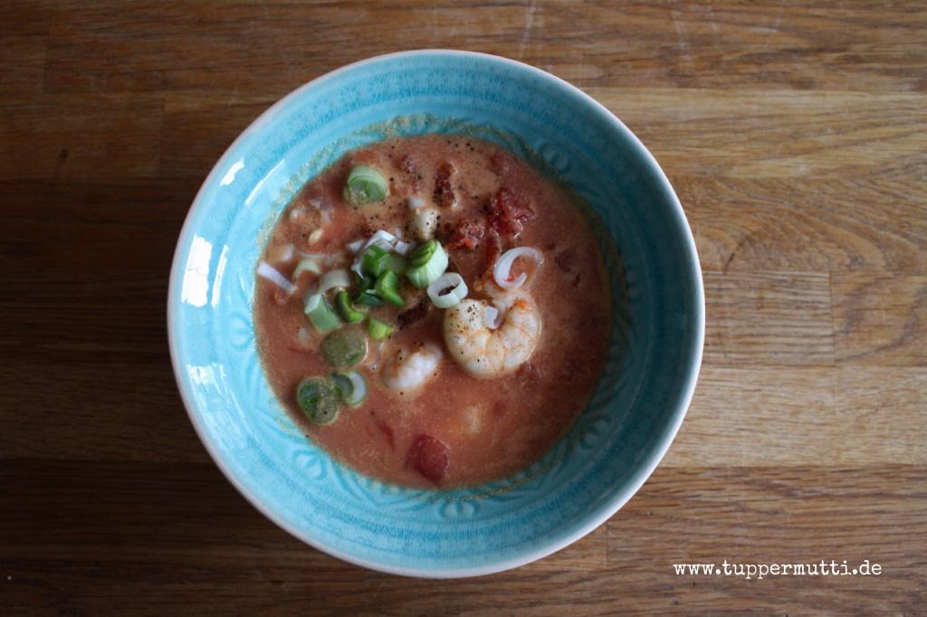 Schnelle leckere Tomaten Kokos Suppe 1