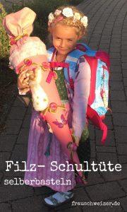 DIY Anleitung Filz - Schultuete fuer den Schulanfang selbermachen