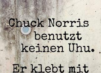 Randnotiz FrauSchweizer: Chuck Norris und der Kleber