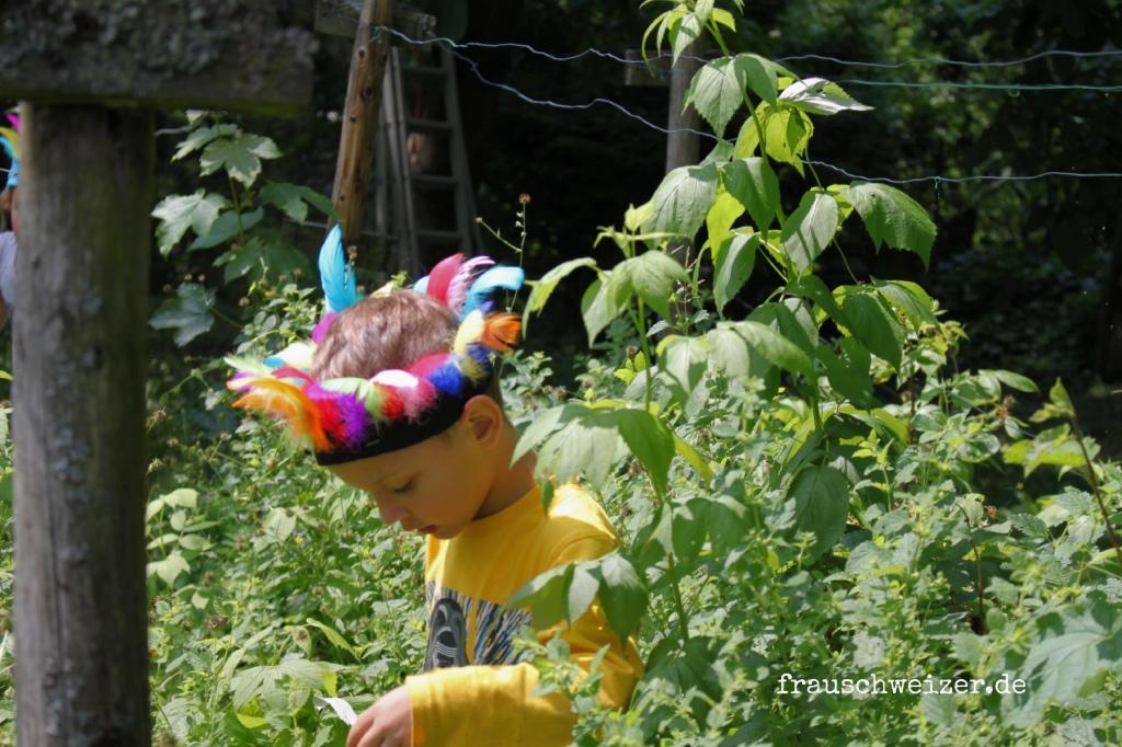 Kopfschmuck Indianer Fuer Kinder Basteln Frau Schweizer