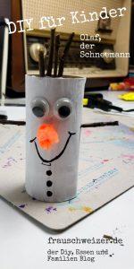 diy mit klorollen, olaf der Schneemann