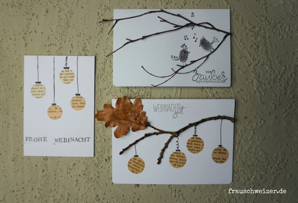 Weihnachtskarten zum nachbasteln