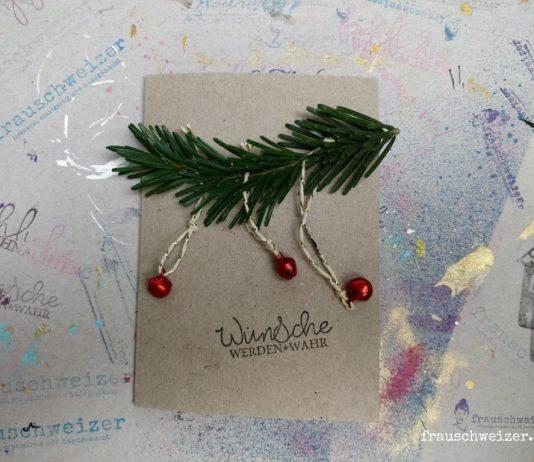 selbstgemachte Weihnachtskarten