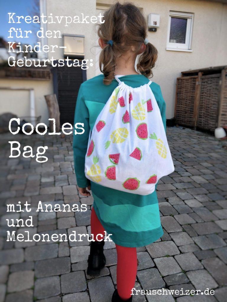 Melonen und Ananas Kartoffeldruck mit Kindern selbermachen! 3