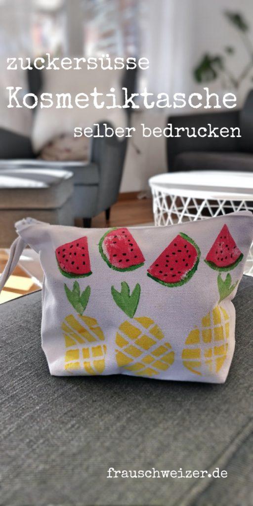 Melonen und Ananas Kartoffeldruck mit Kindern selbermachen! 5