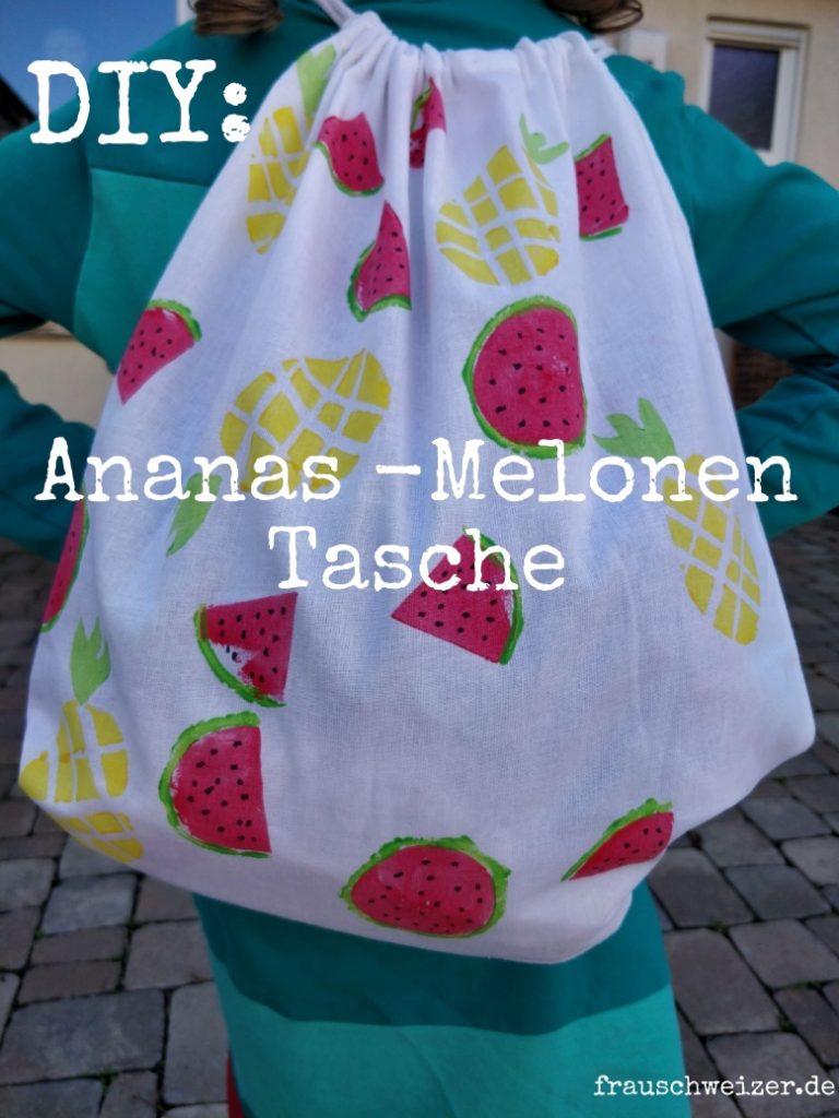 Melonen und Ananas Kartoffeldruck mit Kindern selbermachen! 2