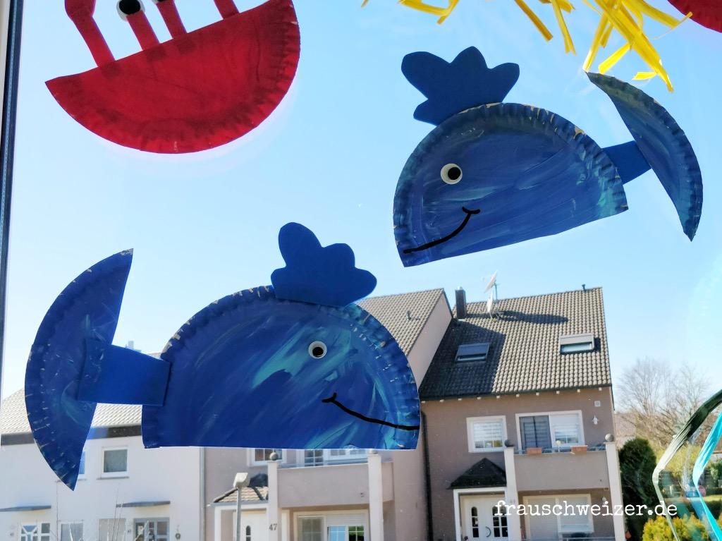 Fensterbild basteln: Unterwassertiere