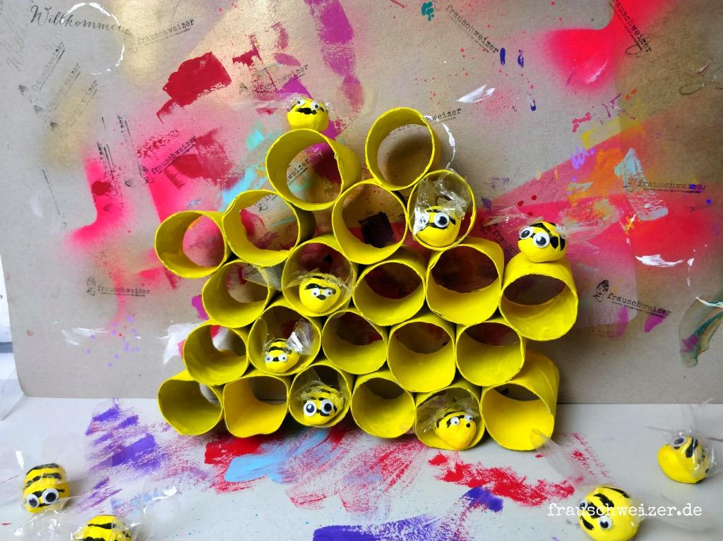 Sommer - DIY: Bienenstock basteln 1
