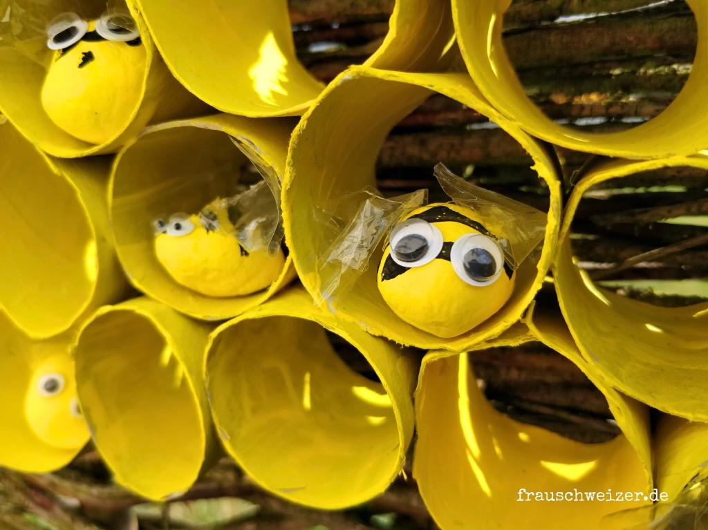 Sommer - DIY: Bienenstock basteln 2