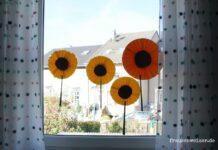 sonnenblumen-fensterdekoration