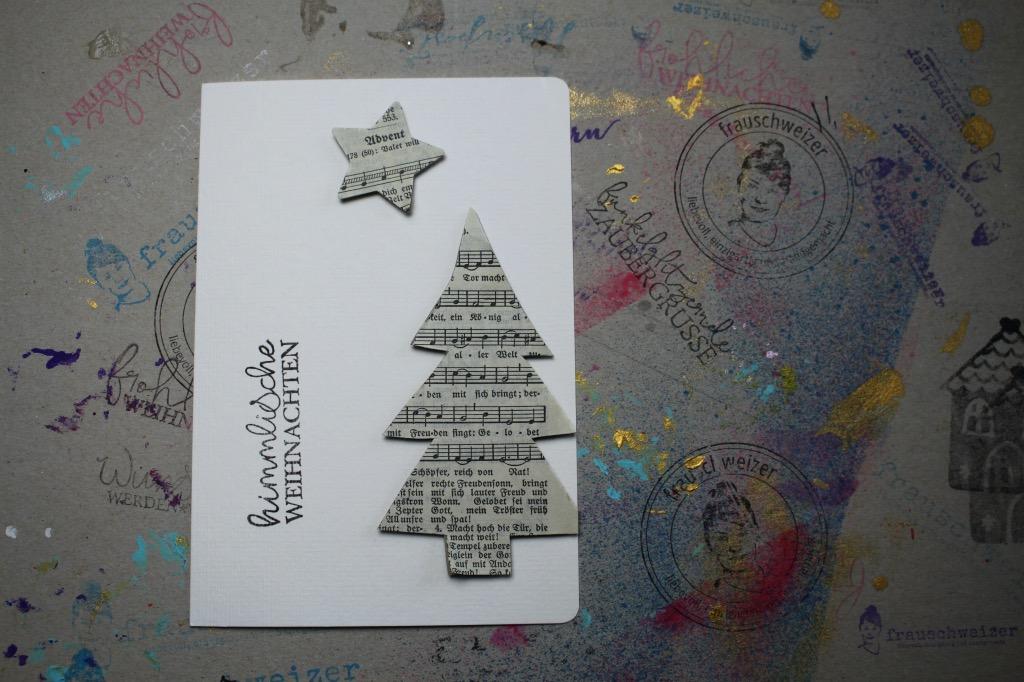 Weihnachtskarten-basteln