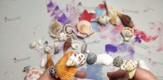 Haarreif-mit-echten-Muscheln-basteln
