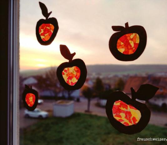 Apfelfenster-herbstdeko