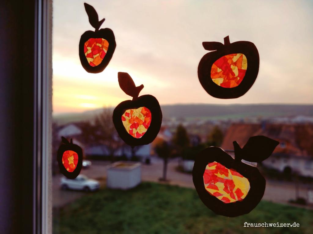 Basteln im Herbst mit den Kids- tolle Fensterdeko! 1
