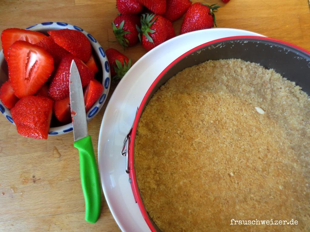 Rezept: Philadelphia Torte mit Erdbeerschaum