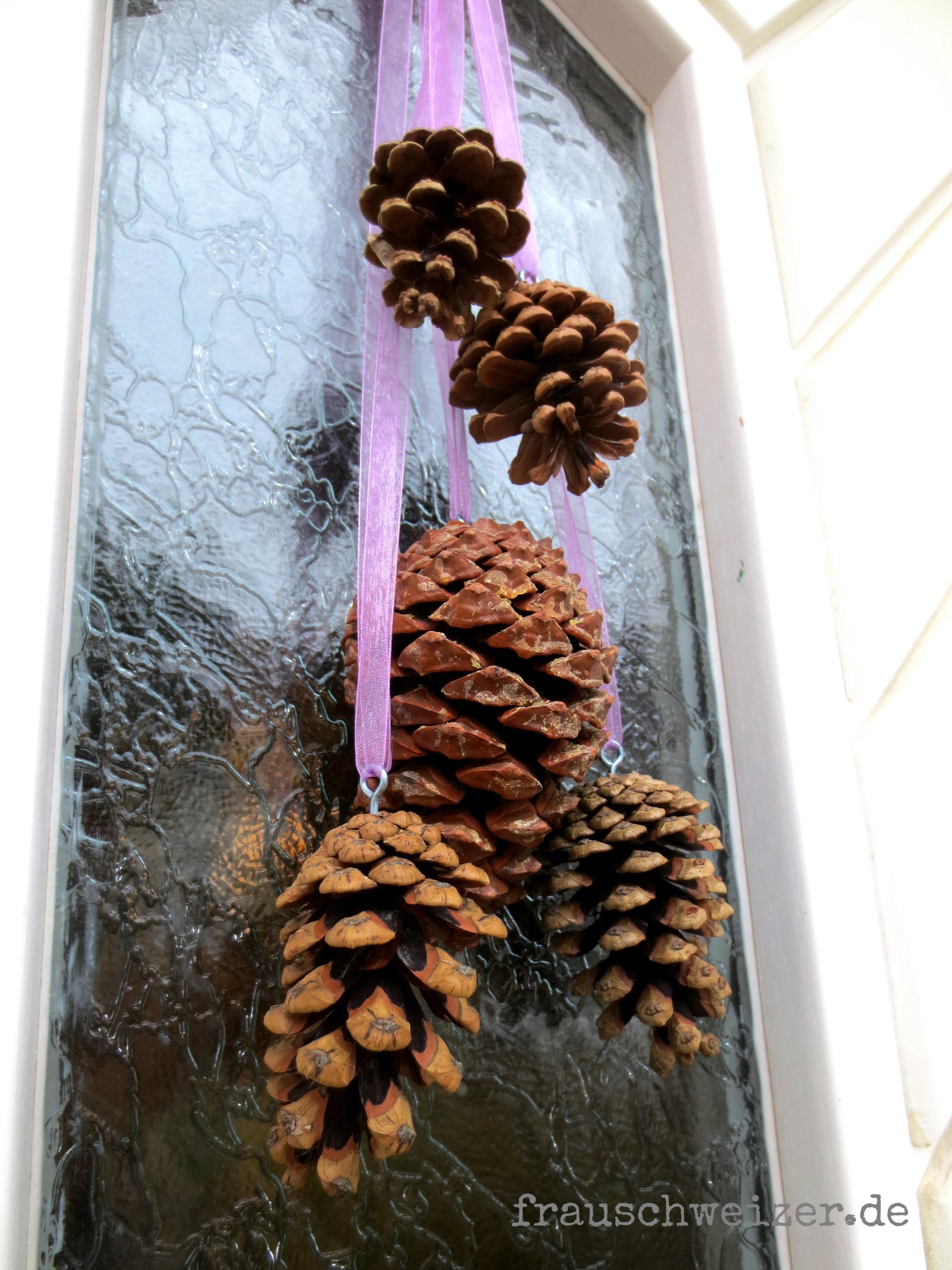 Einfache Herbstdeko für die Haustüre – Frau Schweizer
