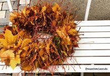 DIY Blätter, herbst Kranz
