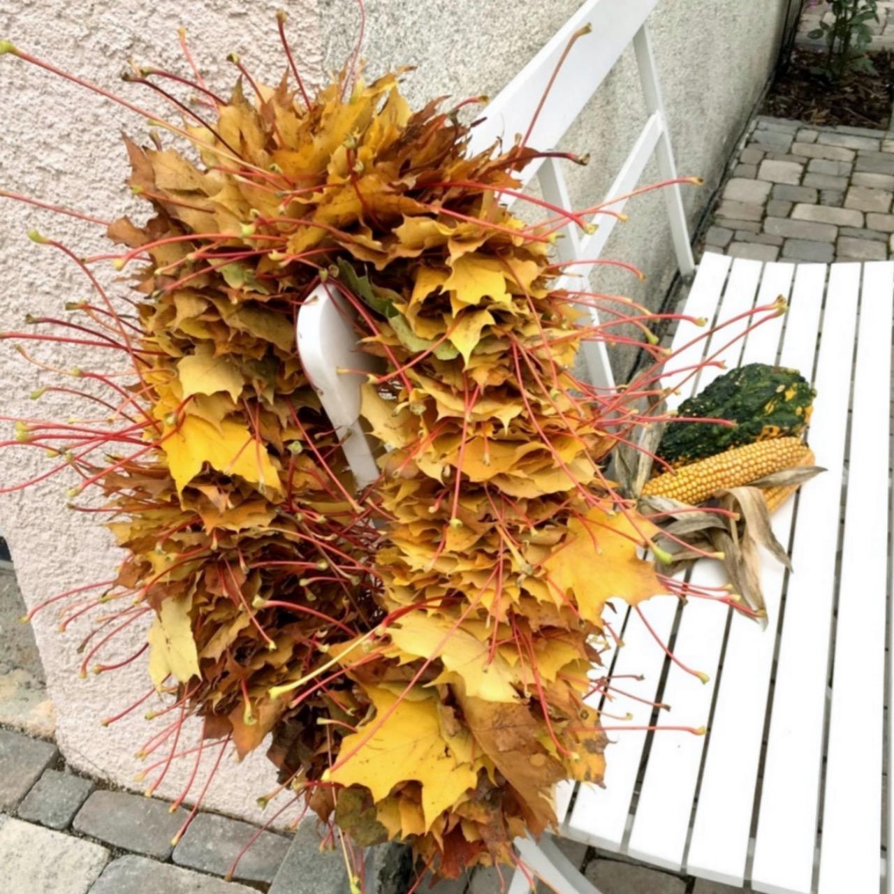 Herbst Blätter Kranz