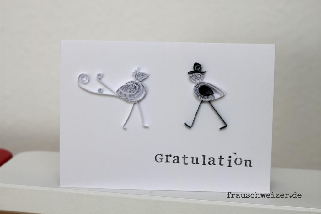 heirat glückwunsch karte