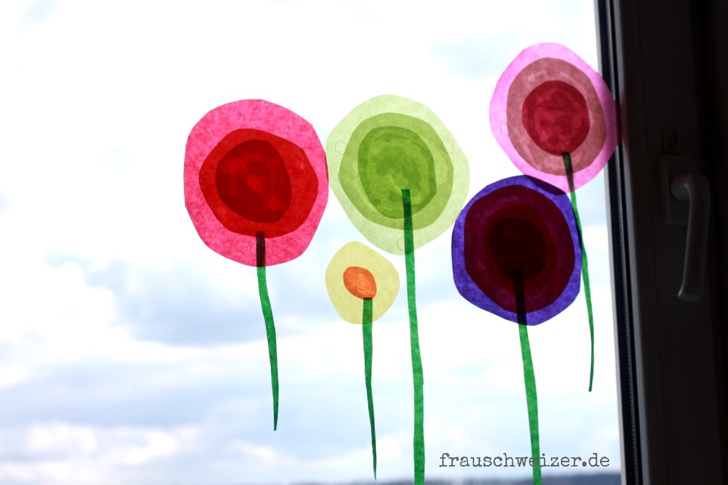 Anleitung Fur Das Fensterbild Blumen Im Fruhling Basteln