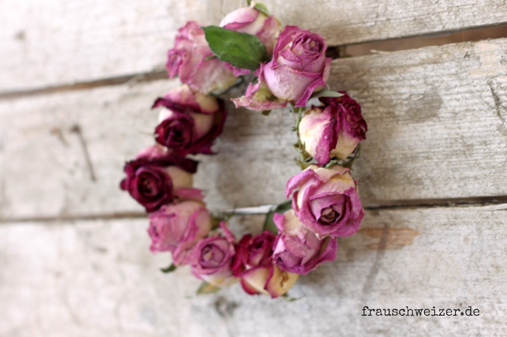 Rose, wreath, handmade
