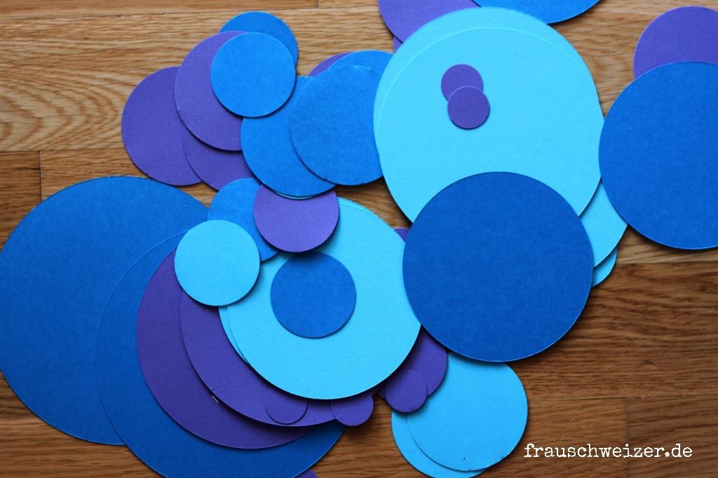 girlande blau kreise