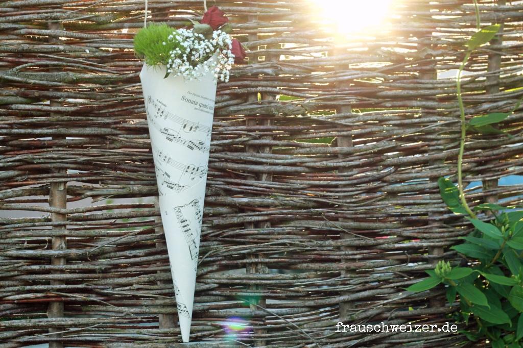 DIY Noten Vinatge Vase nostalgisch