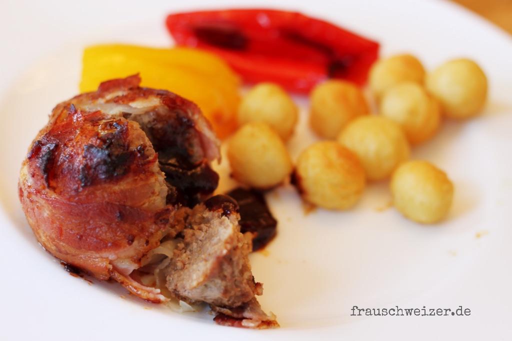 BBQ Zwiebel Bacon Fleischbällchen